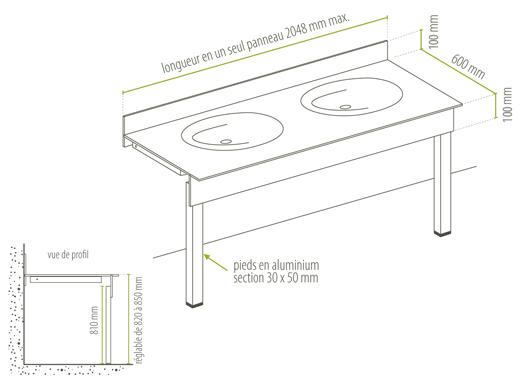 agencement stratifi plan de toilette suffixe. Black Bedroom Furniture Sets. Home Design Ideas